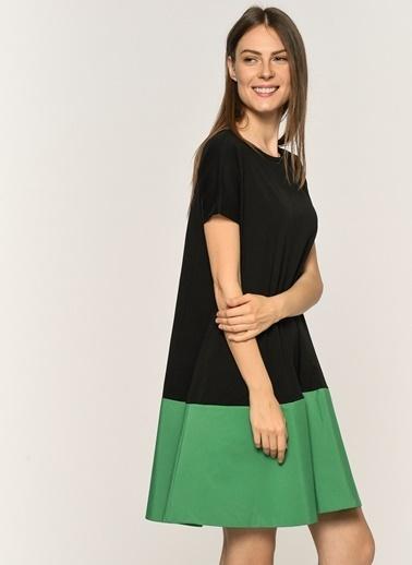 Loves You Eteği Poplin Garnili Cepli Elbise Siyah